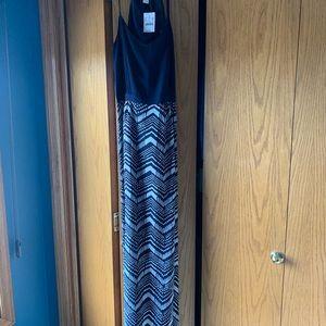 J Crew Factory Striped Maxi Dress
